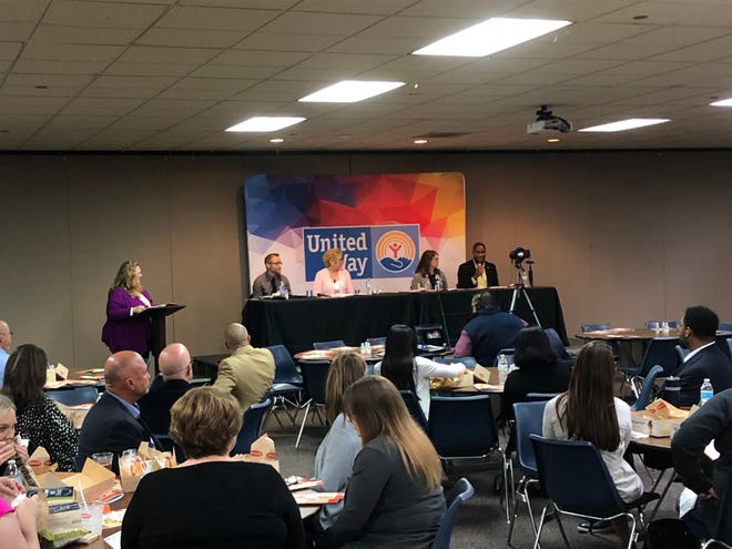 Experts participate in a panel, presenting the 2020-21 Community Status Report from the United Way of Amarillo and Canyon organization Wednesday.