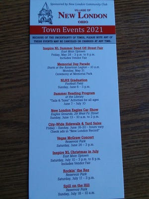 New London Town Events card