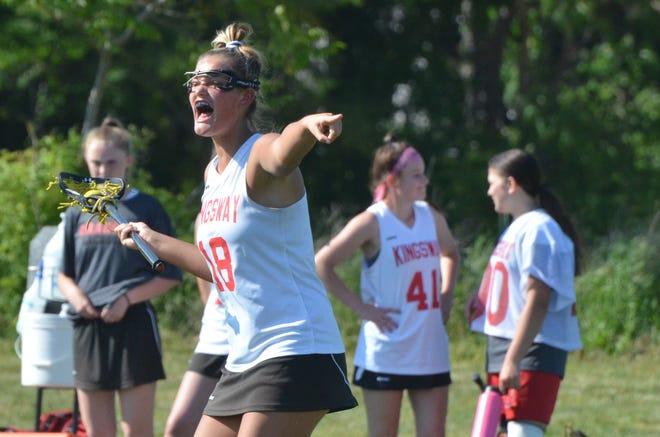 Kingsway senior Haley Phalines sets up the Dragons offense