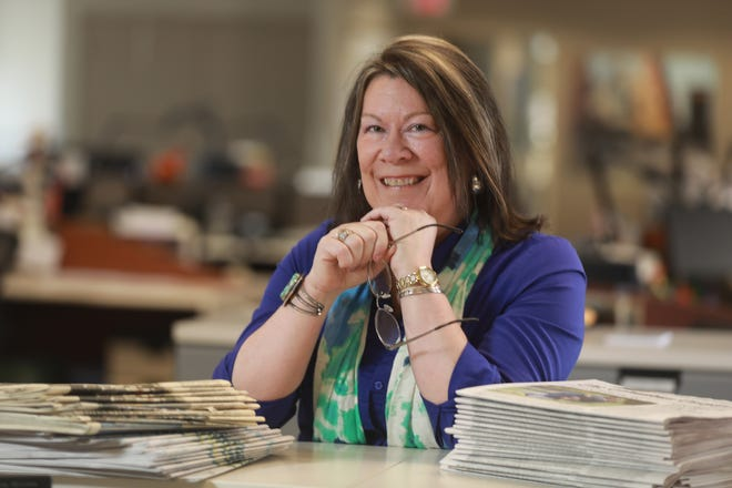 Holly Zachariah is a Columbus Dispatch reporter. She is pictured in the Dispatch newsroom Thursday, April 1, 2021.