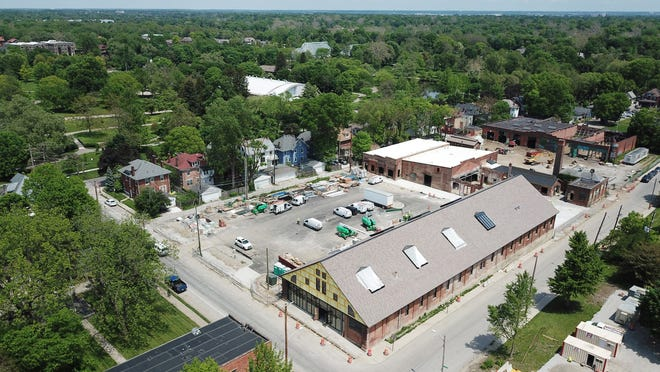 The Trolley District, a $25-million redevelopment of the city's old trolley car facilities near Franklin Park, is expected to start opening in early December.