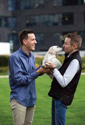 Whitney Chewston with owners Ben Campbell (left) and Logan Hickman in Columbus Commons