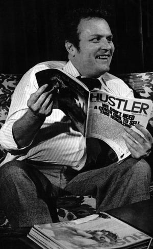 Larry Flynt in his Columbus home in 1978