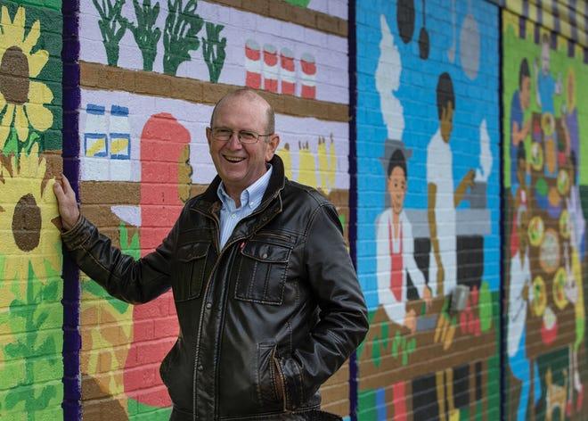 Rev. John Edgar outside All People's Fresh Market