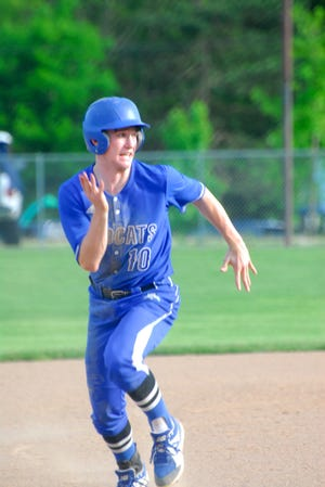 Parker Long makes the dash to third base.