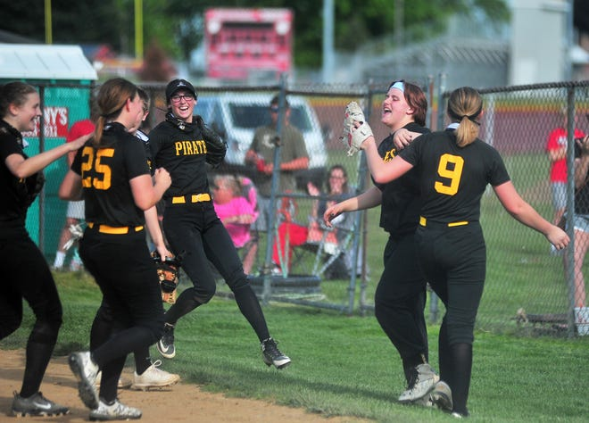 Black River celebrates after another inning of holding Norwayne to no score.