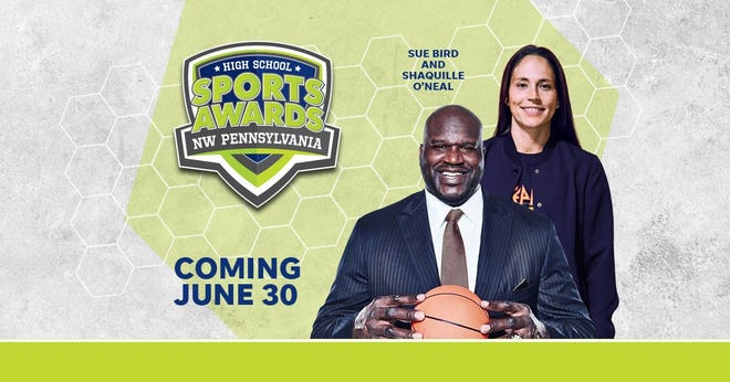 Basketball Hall of Famer Shaquille O'Neal and WNBA World Champion Sue Bird to present Athlete of the Year awards at the Northwestern Pennsylvania High School Sports Awards.