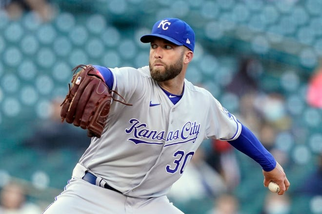 Kansas City Royals starting pitcher Danny Duffy throws during the second inning of last Wednesday's game against the Detroit Tigers. The Royals put Duffy on the injured list Tuesday with a flexor strain in his throwing arm.