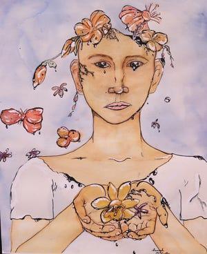 "Hannah McCarthy's art titled ""Decay."""