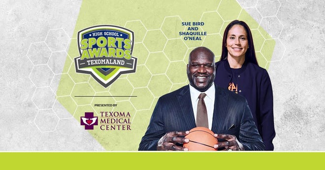 Basketball Hall of Famer Shaquille O'Neal and WNBA World Champion Sue Bird to present Athlete of the Year awards at the Texomaland High School Sports Awards.