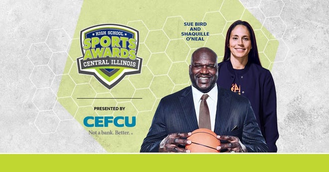 Basketball Hall of Famer Shaquille O'Neal and WNBA World Champion Sue Bird to present Athlete of the Year awards at the Central Illinois High School Sports Awards.
