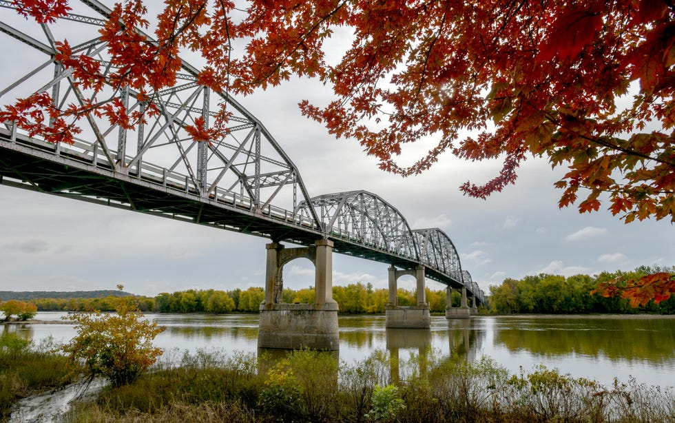 In this Journal Star file photo from October 2019, fall colors surround the Illinois Route 18 bridge across the Illinois River at Henry.