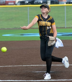 Newton pitcher Tegan Livesay pitched a pair of complete games Tuesday in the Class 5A regionals in Goddard. Livesay finished the day 1-1 as the Railers finish the season 11-11.