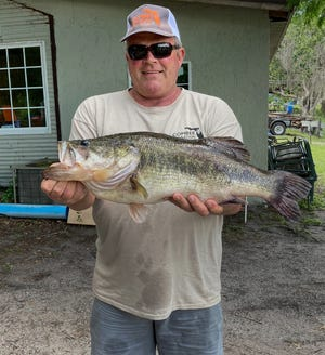 Steve Hatler caught this 11.51 pounder to take big bass during the Kissimmee Bass Series Senior tournament May 14 on the Kissimmee Chain.
