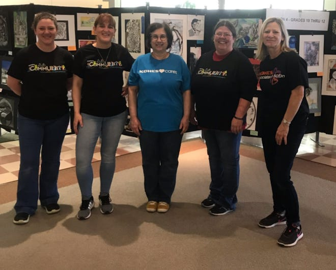 Kohl's Cares Volunteers (Left to right}: Heather Archer, Rachel Reynolds, Tammy Miller, Tabby Walker, and Jackie Bartholemew.