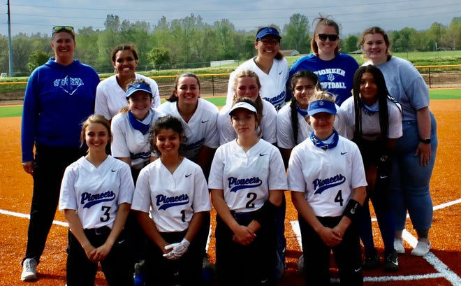 Shown is the Leavenworth High School varsity softball team.