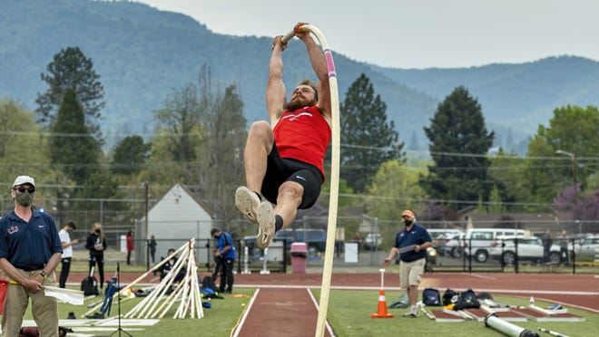 Garrett Bryan, a Mount Shasta High School graduate who also went to College of the Siskiyous, competes in the pole vault for Southern Oregon University in Ashland.
