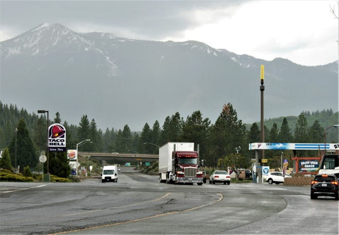 This section of Vista Drive in south Weed will be resurfaced, starting this month and continuing to November.