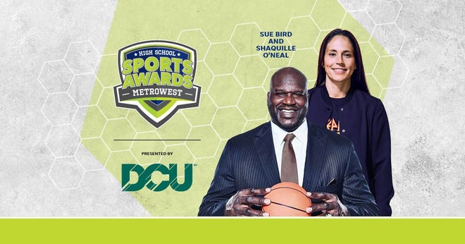 Basketball Hall of Famer Shaquille O'Neal and WNBA World Champion Sue Bird to present Athlete of the Year awards at the MetroWest High School Sports Awards.