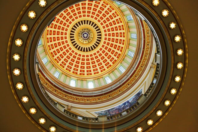 The interior of the Oklahoma State Capitol is seen in 2011.