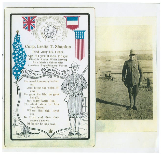 Leslie Shapton, Charlevoix soldier lost in World War I