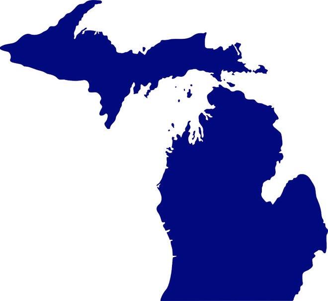 A map of Michigan
