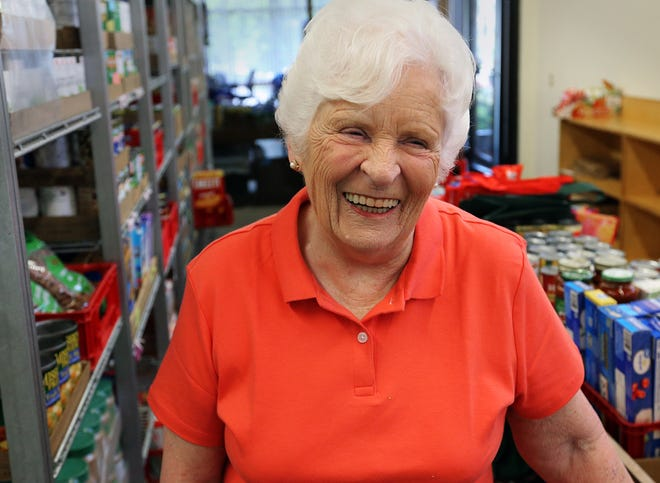 Claire Ruocco, 80, is a standout volunteer who gives at least 25 hours a week to St. Vincent de Paul Food Pantry in Exeter. She was recently honored for her volunteerism.