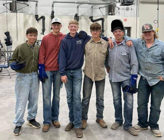 This group of FFA students were among 62 SHS welders to recently receive certification from the American Welding Society.