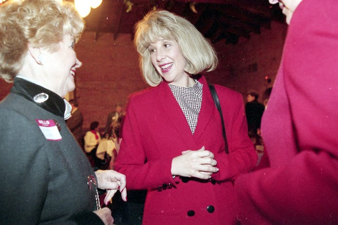Corrine Wood, pictured in December 1997, died Tuesday at age 66. She was the first female lieutenant governor in Illinois.
