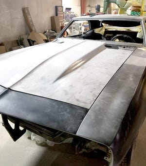 The 1969 Z-28 Camaro with panels ready for final sealant and paint.