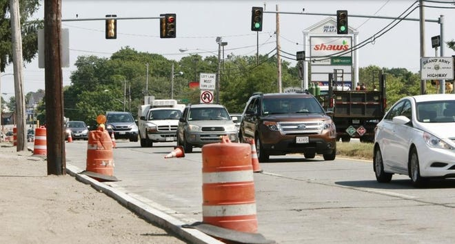 Traffic on Route 6 in New Bedford in this file photo from 2015.