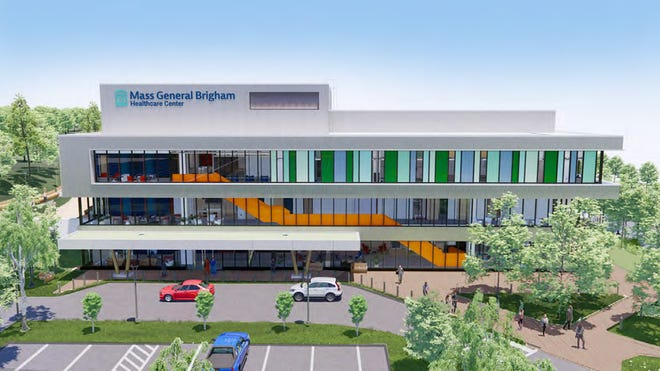An artist's rendering of the proposed Mass General Brigham medical facility in Westboro.