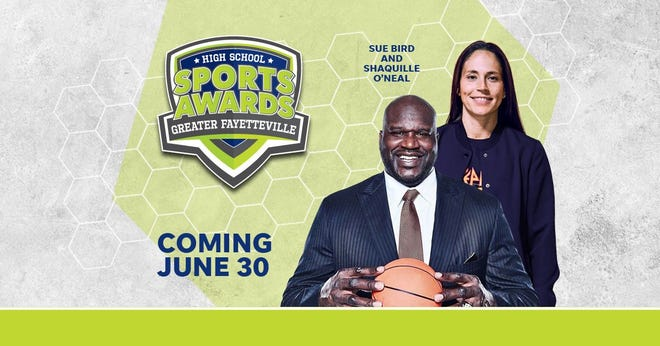 Basketball Hall of Famer Shaquille O'Neal and WNBA World Champion Sue Bird to present Athlete of the Year awards at the Greater Fayetteville High School Sports Awards.