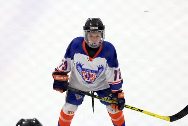 Taylor Ziegler, 11, of Smithsburg, recently was selected as one of 20 girls in the country, born in 2009, to attend the USA Hockey National Player Development Camp at Bowling Green University this summer.