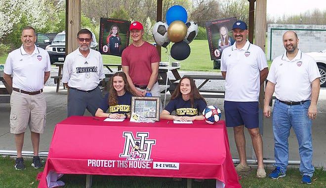 North Hagerstown seniors Kayla Richards and Abbi Lewis signed to play Division II women's soccer at Shepherd University.