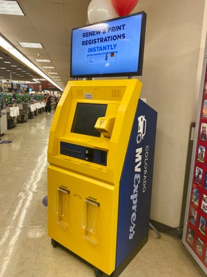 The Colorado MVExpress is a DMV kiosk that allows individuals to renew their license plates and registration within minutes.