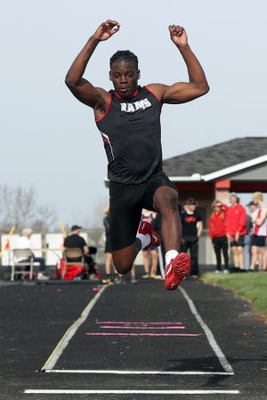 Whitehall-Yearling's Kevin Jackson finished second in the long jump and 200 meters in the MSL-Ohio meet. He also ran on the winning 400 and 800 relays. The boys team finished third behind Grandview and Bexley.
