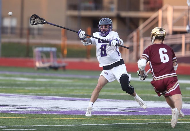 """Senior long-stick midfielder Nick Trostel (above) and junior attacker Jackson Carawan have provided DeSales with a late-season spark. """"They almost took it upon their shoulders to elevate their own games and take on a 'let's do this' attitude,"""" coach Matt Triplet said."""