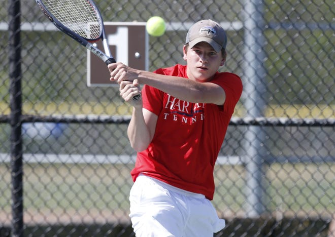 John Hooker was one of six seniors who competed for the Hartley boys tennis team in the postseason. The Hawks finished 7-5 overall and 1-3 in the CCL.