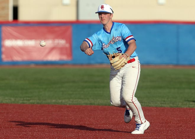 Ethan Conley and Grove City captured the OCC-Ohio championship, edging New Albany by one game. The Greyhounds played Dublin Jerome in a Division I district semifinal May 25.