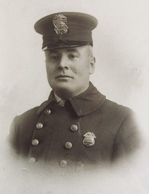 William Reed was Grandview's first chief of police, following appointments as Franklin Township constable and Grandview deputy marshal. He was also co-owner of the Herrick and Reed Market at Fifth and Wyandotte.