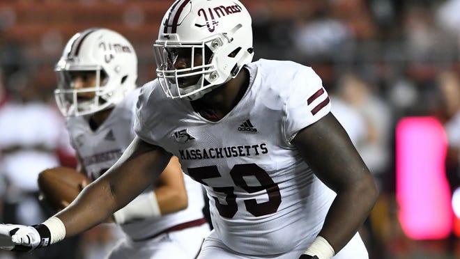 Larnel Coleman, son of Cambridge firefighter Sam Colman Jr., was picked by the Miami Dolphins in the seventh round of the NFL draft May 1.