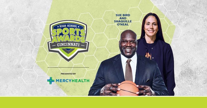 Basketball Hall of Famer Shaquille O'Neal and WNBA World Champion Sue Bird to present Athlete of the Year awards at the Cincinnati High School Sports Awards.