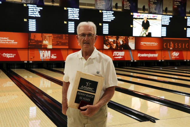 Denny Bluck of West Lafayette was recognized for 50 years of participation during the USBC Open Championships last week in Las Vegas.