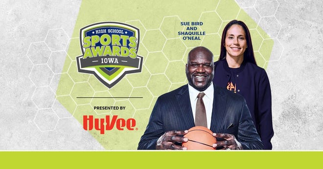 Basketball Hall of Famer Shaquille O'Neal and WNBA World Champion Sue Bird to present Athlete of the Year awards at the Iowa High School Sports Awards.
