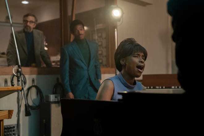 """Marc Maron stars as Jerry Wexler, Marlon Wayans as Ted White and  Jennifer Hudson as Aretha Franklin in the biopic """"Respect."""""""