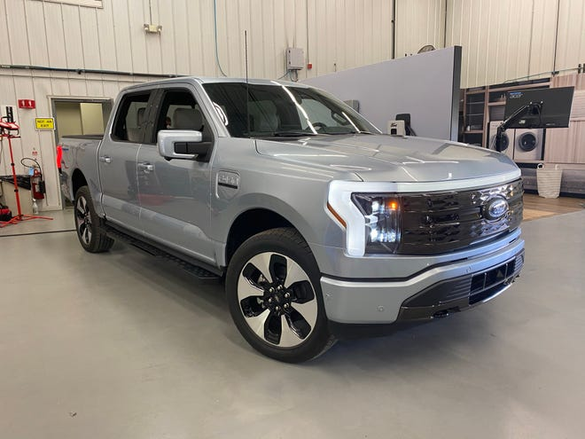 The 2022 Ford F-150 Lighting electric pickup goes on sale in spring, 2022.