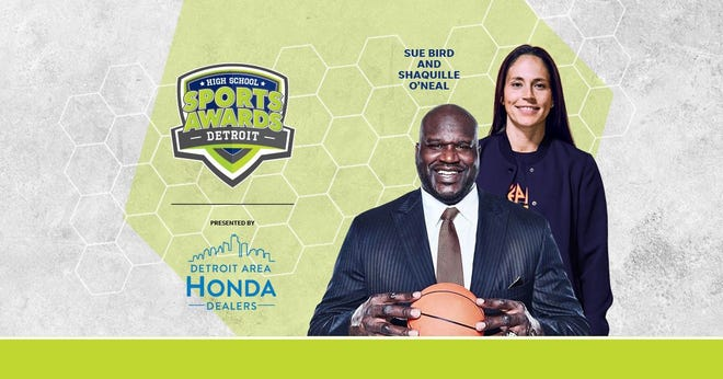 Basketball Hall of Famer Shaquille O'Neal and WNBA World Champion Sue Bird to present Athlete of the Year awards at the Detroit High School Sports Awards.