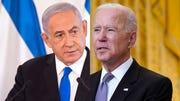 Israeli Prime Minister Benjamin Netanyahu, left, and President Joe Biden