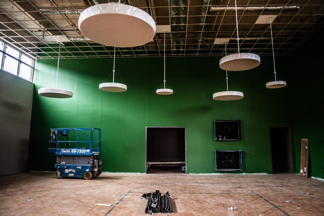 A music room that is still under construction in Jackson Central-Merry is seen on May 18, 2021.